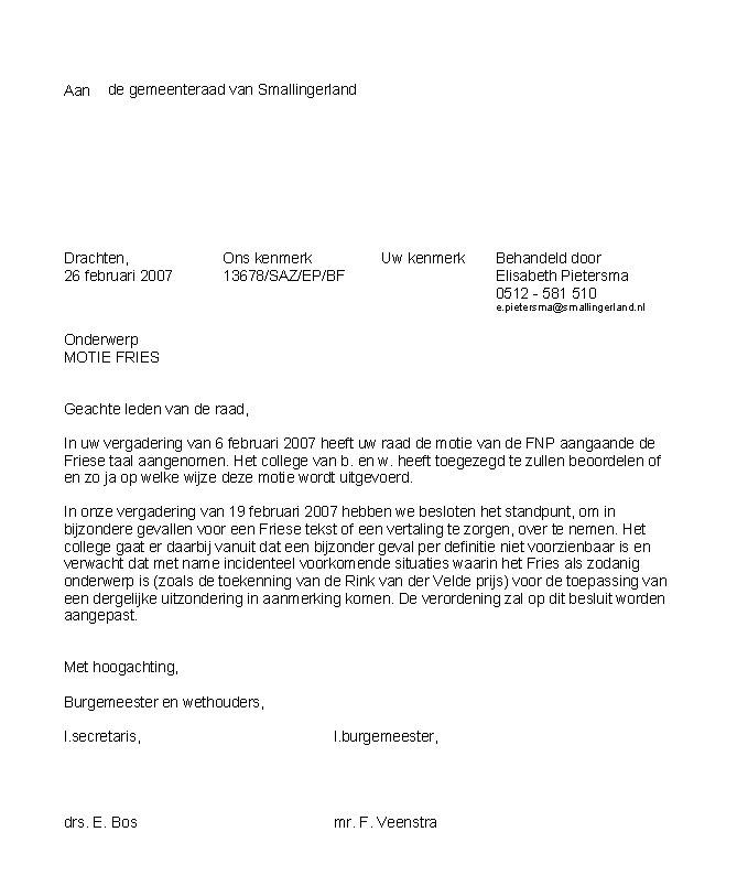 promotie brief opstellen Aktueel 2007